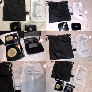 Two new Chanel eye shadow and gift set with bag
